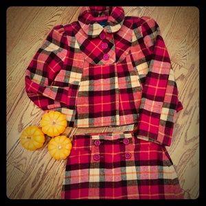 Girls Gap wool set blazer and skirt.